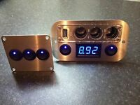 12v Campervan Panel, 3 Way Led Switch Pack For Existing 12v Light