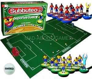 Subbuteo Espana Vs Brasil Mundial Futbol Set Soccer Juego De Mesa