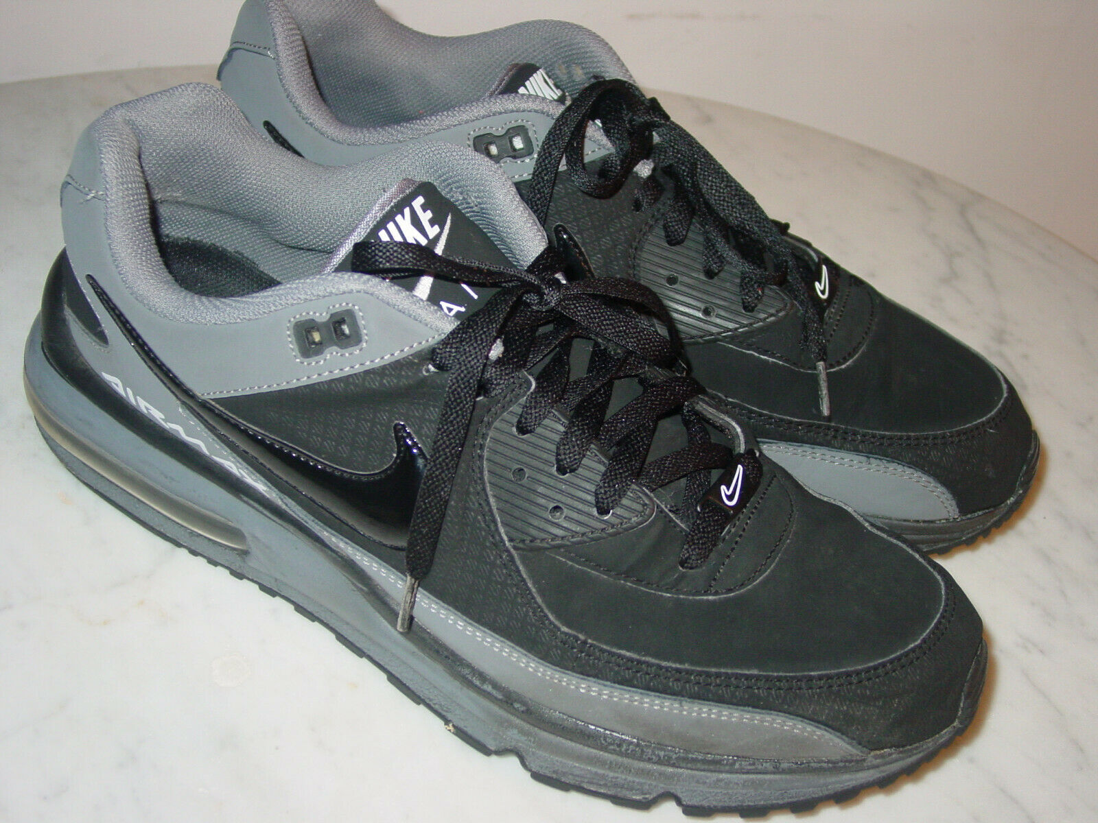 2011 Mens Nike Air Max Wright Black Cool Grey White Running shoes  Size 13