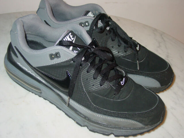 2011 Mens Nike Air Max Wright BlackCool GreyWhite Running Shoes! Size 13