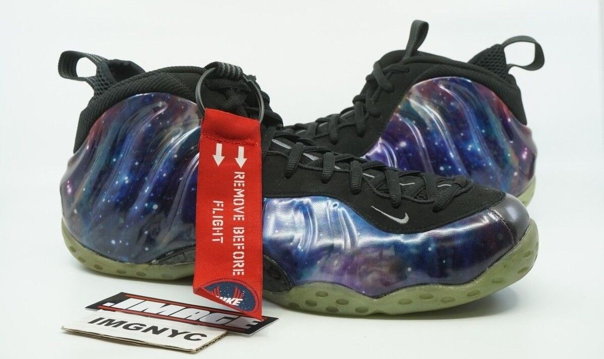 NIKE AIR FOAMPOSITE ONE NRG USED SIZE 14 GALAXY OBSIDIAN ANTHRACITE 521286 800