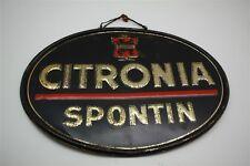 Citronia Spontin Limonade - seltenes altes Blechschild Reklameschild - B 1957