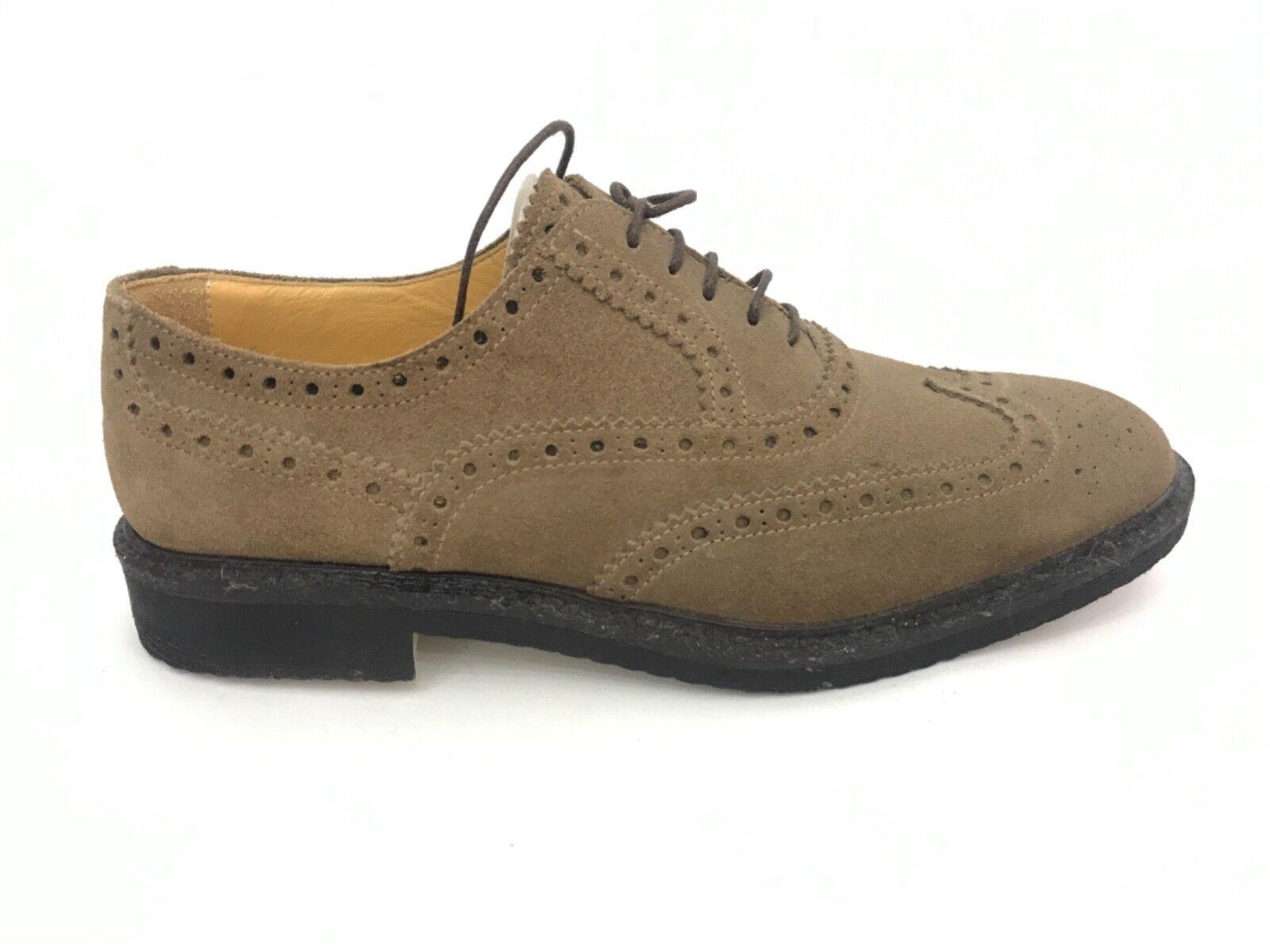 PELUSO shoes shoes man suede brown clear man PELM92