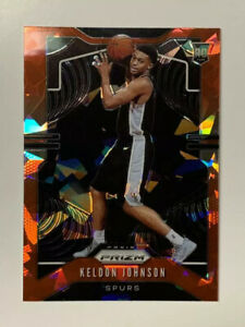 Keldon-Johnson-2019-Panini-Prizm-Red-Ice-Rookie-Basketball-Card-273-NM-MT