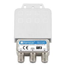 DiSEqC Schalter 2-1 Umschalter 2 Satelliten Wetterschutz Switch SAT HD Opticum