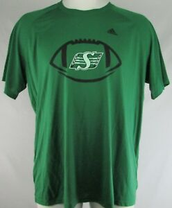 Saskatchewan-Roughriders-Men-039-s-Green-Adidas-Short-Sleeve-T-Shirt-3XL-4XL-CFL