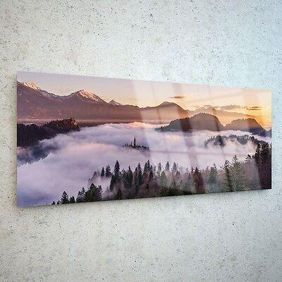 Wall Art Glass Print Canvas Picture Large Painting Cloud Sky Peak p7919 125x50cm