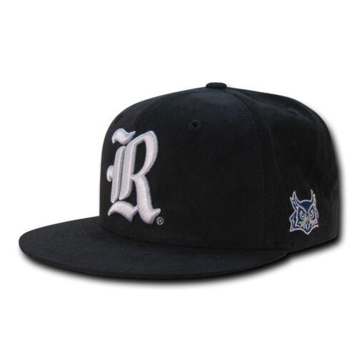 NCAA Rice Owls University Flat Bill Faux Suede Snapback Baseball Caps Hats