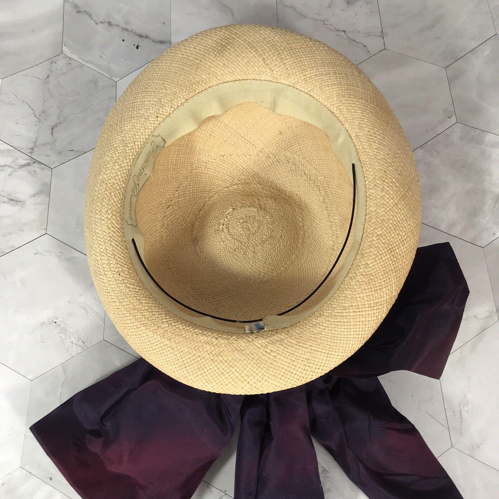 VTG 40s 50s Genuine Panama Wicker Straw Derby Sui… - image 5