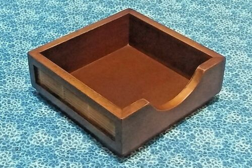 Details about  /Wooden Memo Box Desk Accessory