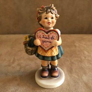 Valentine-Hummel-girl-Figurine-Goebel-1-collectors-club-387-chocolate-1972-heart