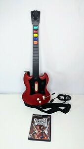 Guitar-Hero-Red-Octane-PSLGH-Wired-Guitar-for-PlayStation-2-w-GH2-Tested