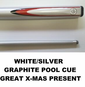 QUALITY-034-WHITE-034-GRAPHITE-POOL-SNOOKER-CUE-2020-awesome-value-for