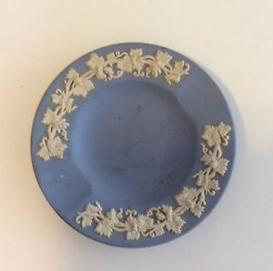 Details About Vintage Wedgwood Blue Jasperware Trinket Dish Ashtray