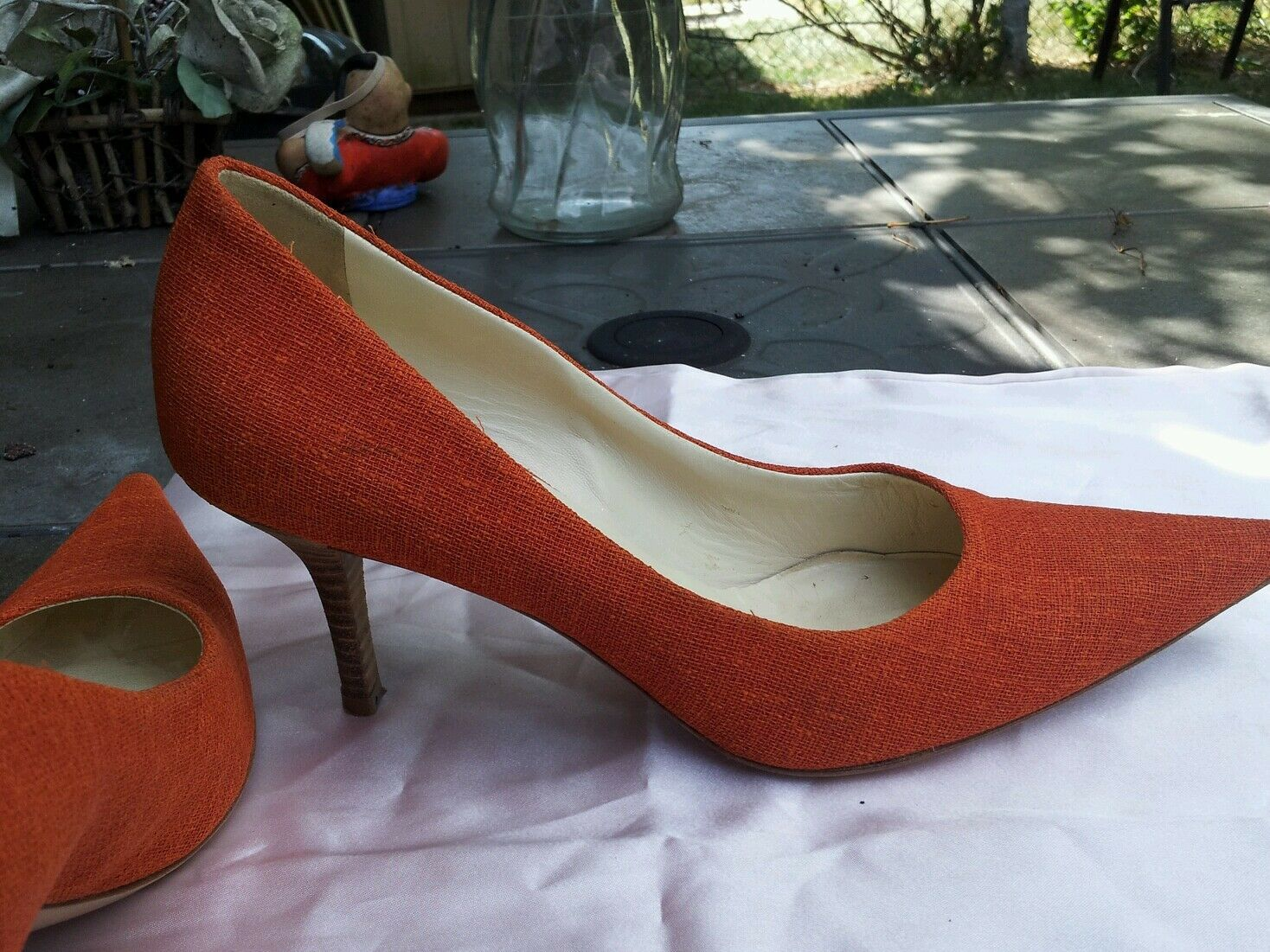 MIU MIU Damens's made orange fabric schuhe sz.36.5/6.5 US made Damens's in  212398
