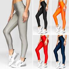 Leggings Hose Trainingshose Sporthose Leggins Slim Fitness Damen BOLF Unifarben