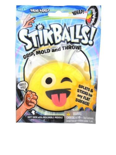 Jokes and Gags STRETCHY POOP Toy Hog Wild Stik Balls Splat Stick Flat Surface
