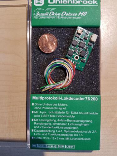 allstrommotoren Sound Interface la belle Uhlenbrock 76200 Lokdecoder mot//DCC F