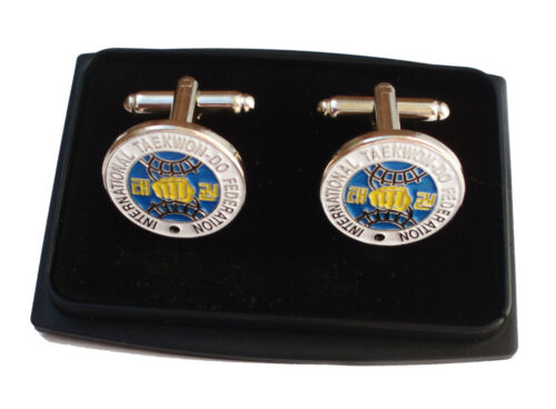 ITF TAEKWONDO LEATHER WALLET Also Cuff Links Super Gifts Tie clip Key Ring