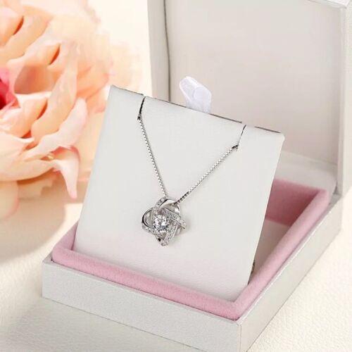 UK Womens Necklace Swirl Pendant Silver Long Chain Girls Gift Fashion Jewellery