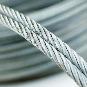 AB 10 Meter STAHLSEIL verzinkt 2mm  Drahtseil Seile Stahlseile Draht