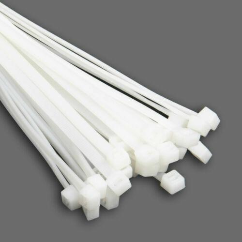 Kabelbinder 400 Stück Weiß Set XL Industriequalität EU Kabelstrapse Sortiment