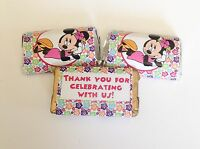 50 Minnie Mouse Luau Mini Candy Bar Wrappers Party Favors