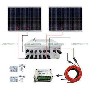 500W-2x250W-Solar-Panels-with-15A-Controller-6-Strings-Combiner-Box-for-Car-RV