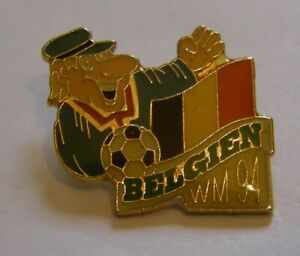 WORLD-CUP-94-USA-SOCCER-BELGIUM-Limited-Edition-500-vintage-pin-badge-Z8J