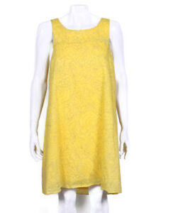 HD-in-Paris-Anthropologie-Yellow-Floral-Sleeveless-Cotton-Dress-size-US-4
