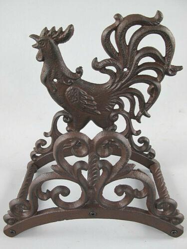 Schlauchhalter Hahn braun aus Gusseisen 26 x 14 x 24cm Antikstil