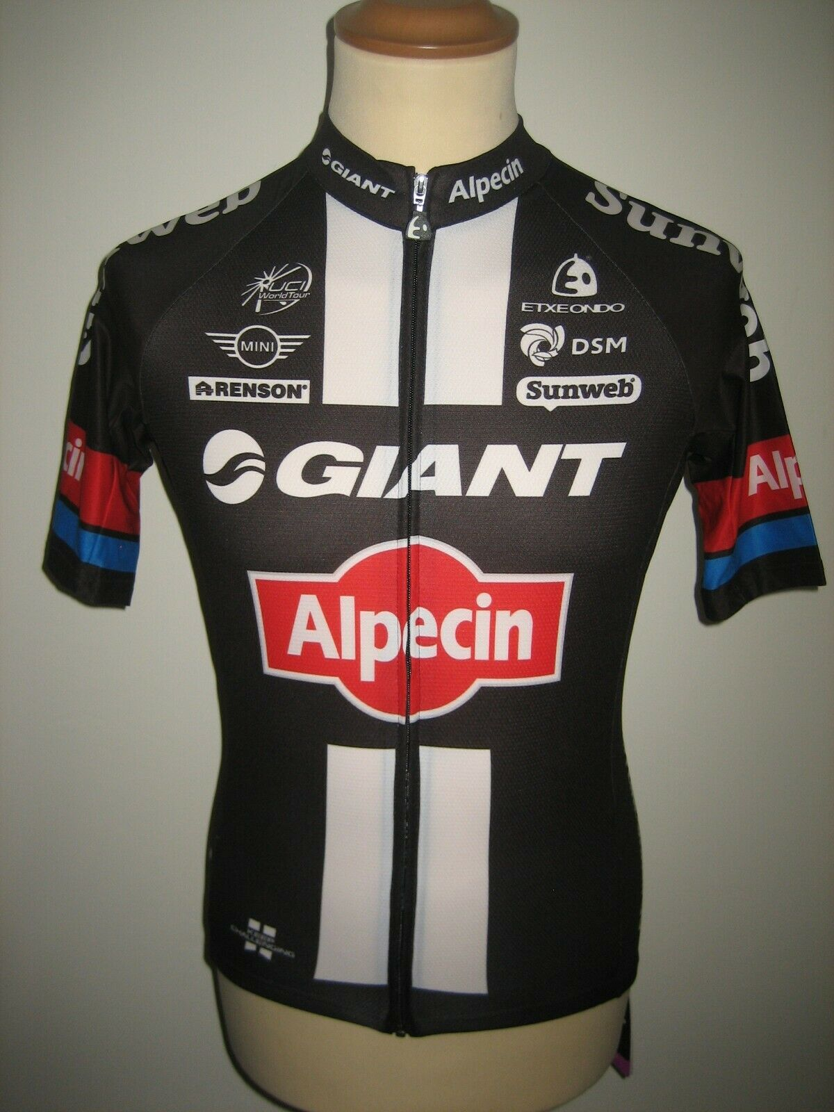 Giant Alpecin ISSUED for DE BACKER cycling jersey shirt maillot NEW Größe L