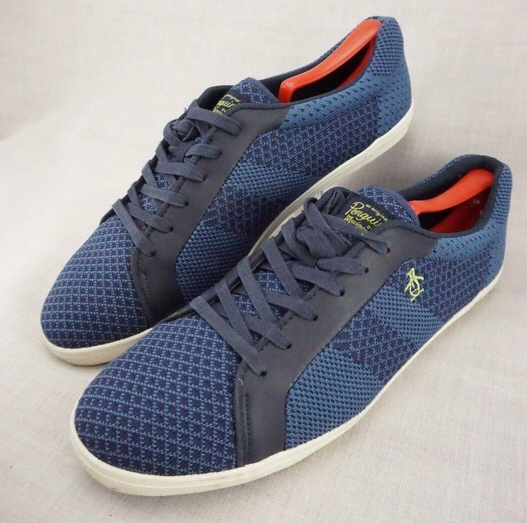 Penguin Original Owen Low Top Knit bluee Men Fashion Sneakers shoes Men's US 12