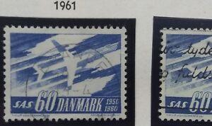 2 X Timbre Stamp Danemark Danmark 1961 Yt 396 Et 396a Oblitérés Sas Art De La Broderie Traditionnelle Exquise