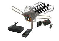 Outdoor Hdtv/dtv Long Range Tv Antenna + Digital Dvr Converter Box System