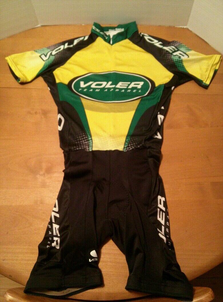 VOLER CYCLING SINGLET MENS L 1999 RAGLAN Green Polyester Race Fit Short Sleeve
