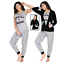 3Pcs Women Tracksuit Sweatshirt Ladies TOTALLY AWESOME Casual Suit