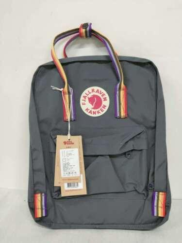 Fjällräven Kanken Rucksack 16L Tagesrucksack graphite-rainbow Sport Backpack