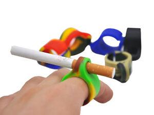 2-X-Silicone-Ring-Finger-Hand-Rack-Cigarette-Holder-For-7-8mm-Regular-cigarette