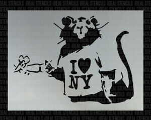 Banksy rat listen wall art stencil,Strong,Reusable,Recyclable