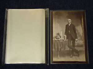 500-CABINET-CARD-Cab-Photo-SLEEVES-Pack-Lot-ARCHIVAL-SAFE-Quality-1-5-Mil-Poly