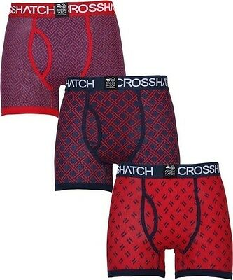 Mens Boxers Shorts Crosshatch Grillis 3 Multipack Underwear Trunks S - XXL