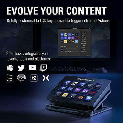 Stream Deck - Live Content Creation Controller with 15 Customizable 15 Keys