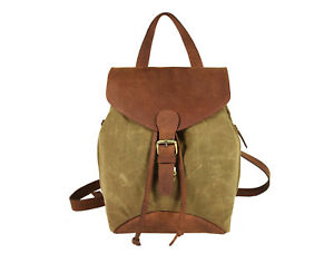743e8d134f Image is loading Canvas-Backpack-Women-Rucksack-Daypack-Hiking-Bag-Shoulder-