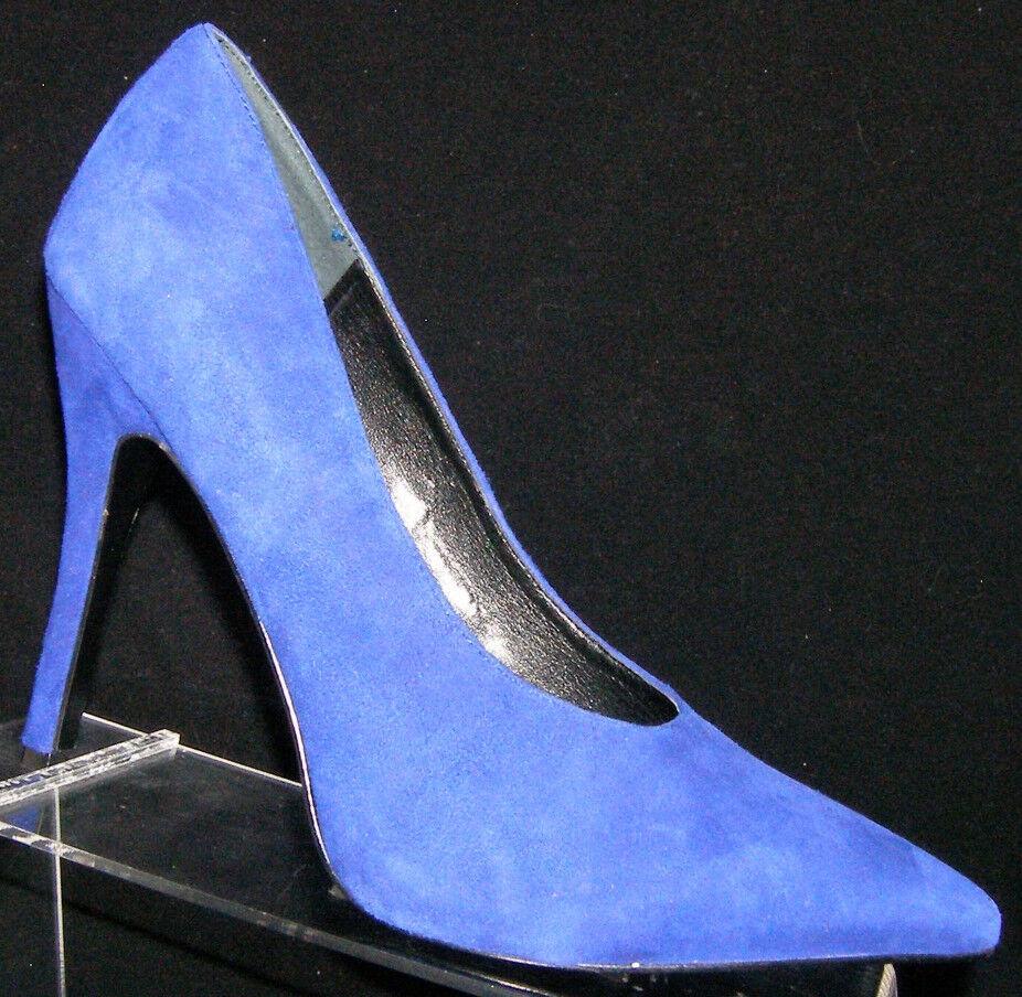 Nine West Alera bluee suede pointed toe slip on classic pump heels 9.5M 5800