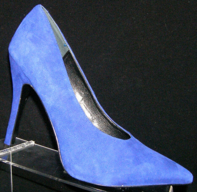 43ad289525b Nine West Alera blue suede pointed toe slip on classic pump heels 9.5M 5800