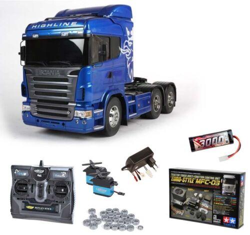 56327MFC MFC-03 Tamiya Scania R620 6x4 Highline Blue komplett Kugellager