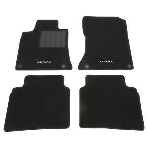 Brand New Oem 2019 Nissan Altima Black Carpet Carpeted Floor Mats Set Genuine Ebay