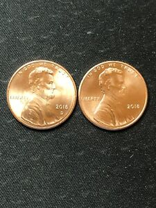 BU two coins 2010  P /& D   Lincoln Shield Cents