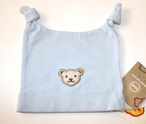 STEIFF® Baby Jungen Jersey Mütze Blau Bio-Baumwolle Gr 37-47 F//S 2019 NEU!
